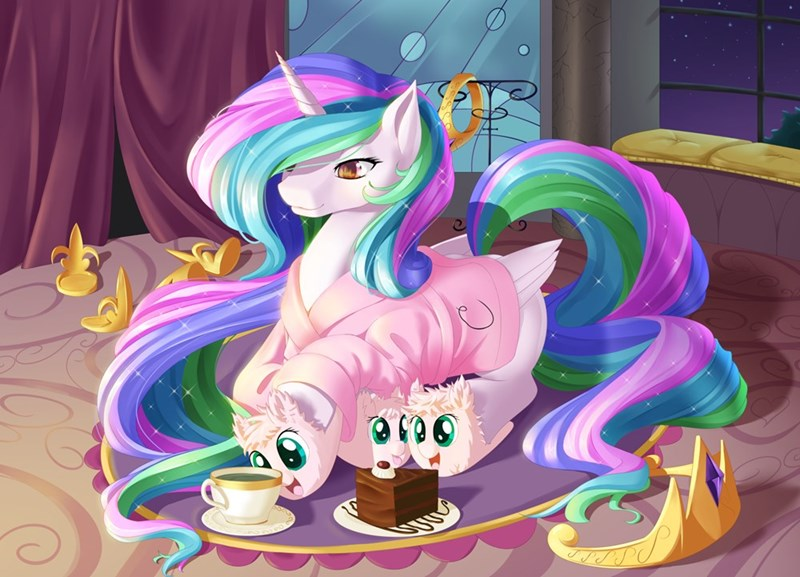 flufflepuff,princess celestia