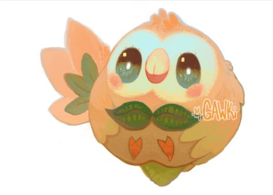pokemon-sun-and-moon-rowlet-cute-art-leafy-pits-funny