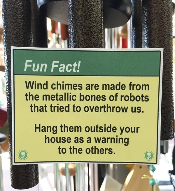 sign robots win wind chimes - 8796973312