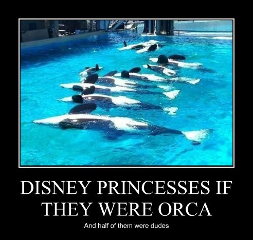 DISNEY PRINCESSES IF THEY WERE ORCA