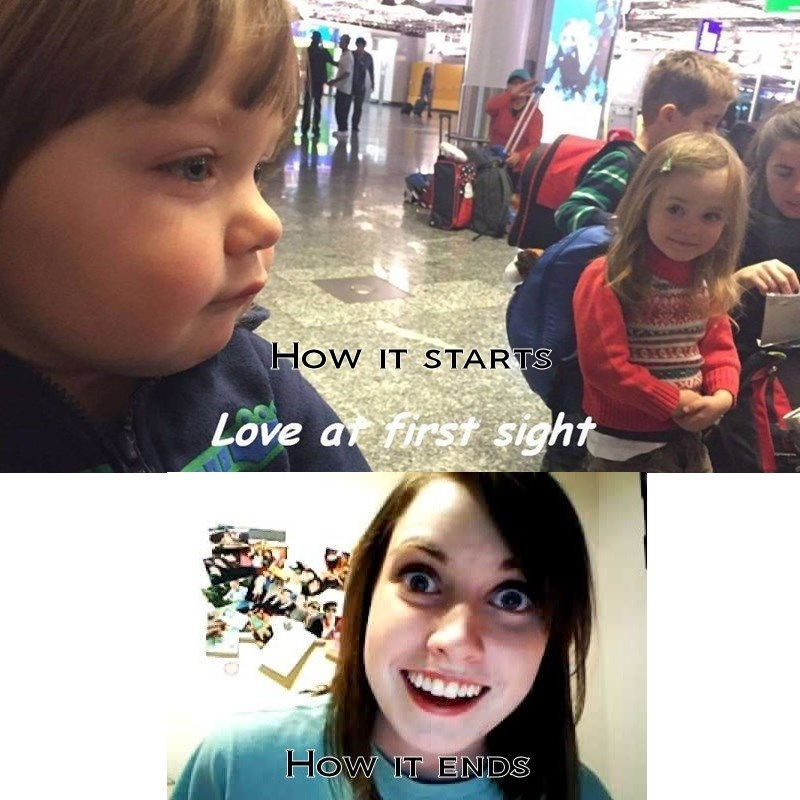 overly attached girlfriend,love,children,dating
