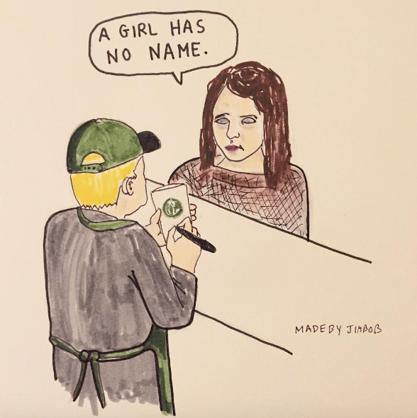 arya tries to order starbucks