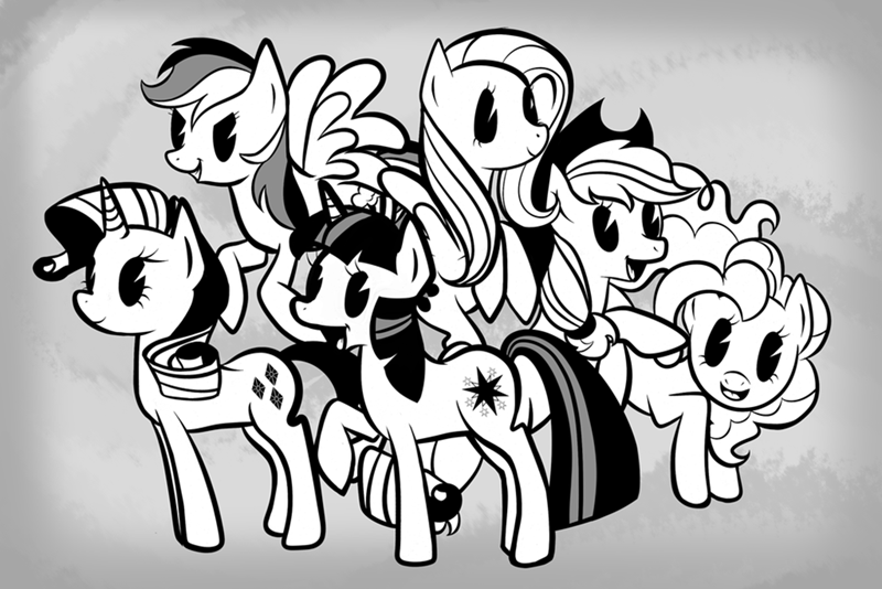 applejack twilight sparkle pinkie pie old timey rarity fluttershy rainbow dash - 8797556736
