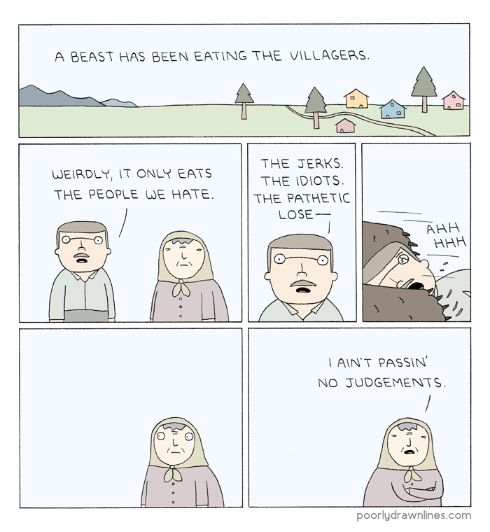 web-comics-bear-eats-many-villagers-dark-humor