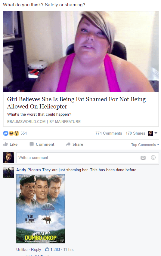 Fat Shaming failbook comment facebook - 8797641984