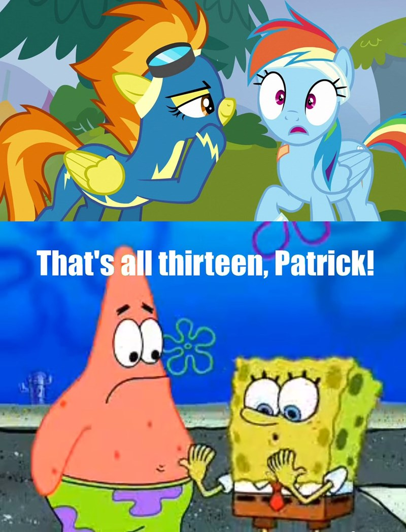 swear words spitfire newbie dash SpongeBob SquarePants rainbow dash - 8797699328