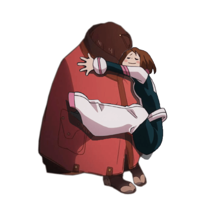 Someone Gloriously Photoshopped Uraraka Hugging Into Other Pictures