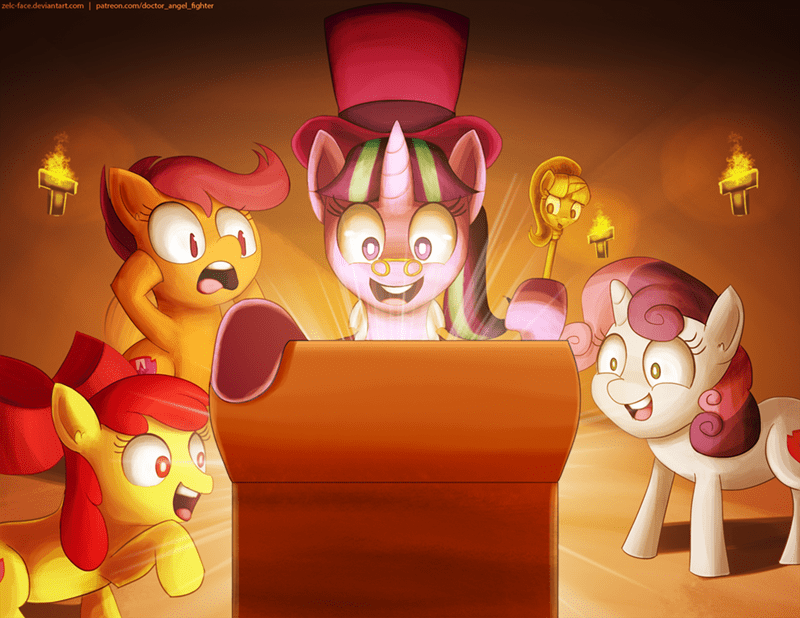 a hearth's warming tail,Sweetie Belle,starlight glimmer,apple bloom,twilicane,ducktales,Scootaloo,snowfall frost