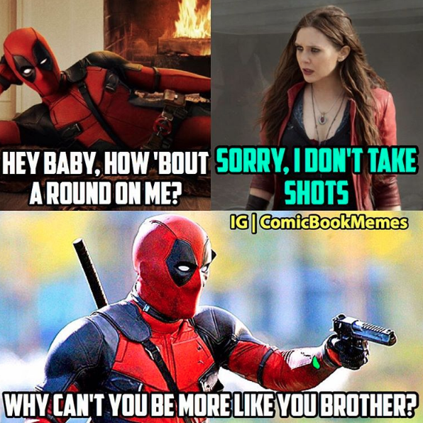 Deadpool Back at It With That Grade A No-Chill
