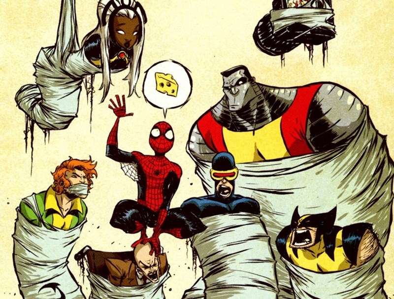 pictures,colossus,Spider-Man,funny