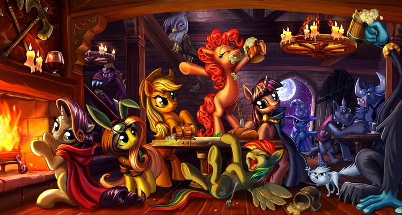 applejack,the great and powerful trixie,diamond dogs,twilight sparkle,pinkie pie,ahuizotl,gilda,rarity,iron will,fluttershy,gargle,rainbow dash