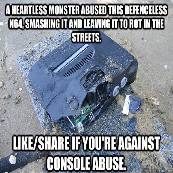 nintendo-64-video-games-smashed-console-abuse