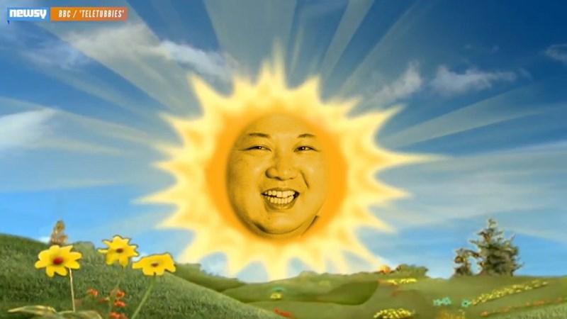 kim jong un - Sky - newsy BBC/'TELETUBBIES'