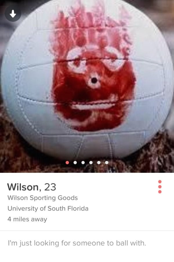 castaway,tinder,wilson,tom hanks,dating