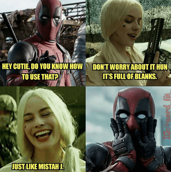 funny-harley-quinn-deadpool-superheroes-romance-crossover