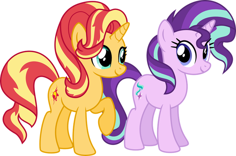 starlight glimmer sunset shimmer civil war - 8798322432