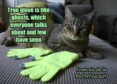 True glove is like ghosts, which everyone talks about and few  have seen
