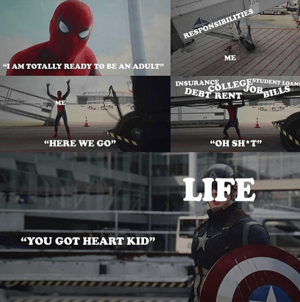 spider-man-marvel-captain-america-adulthood-life