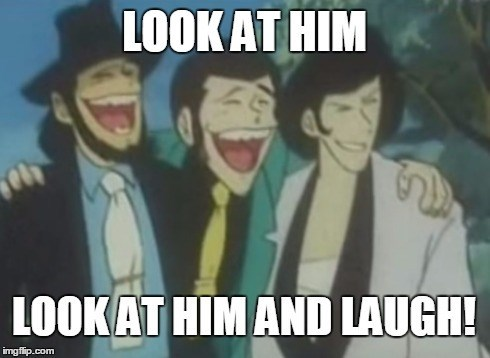 lupin the third anime laughing funny - 8799119616