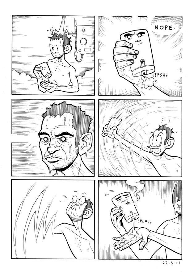en la ducha