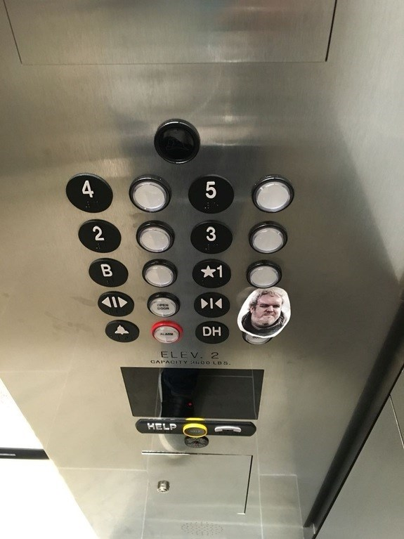 hodor elevator button too soon