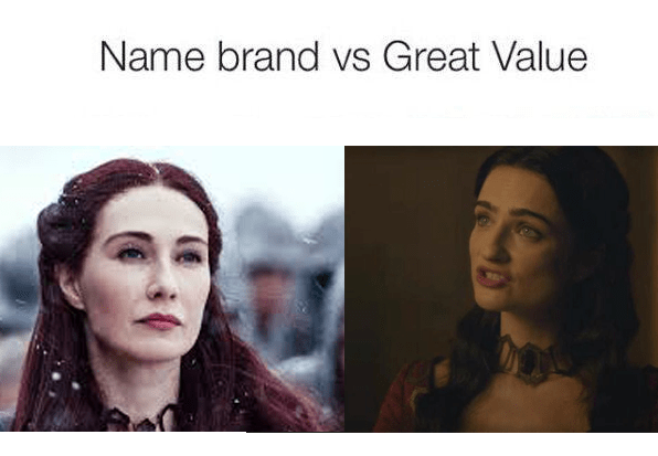 name brand vs great value
