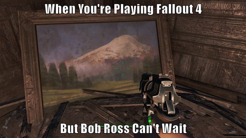fallout-4-raider-definitely-streamed-bob-ross-painting-funny