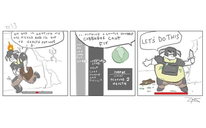 web-comics-funny-video-game-logic-skyrim-battle