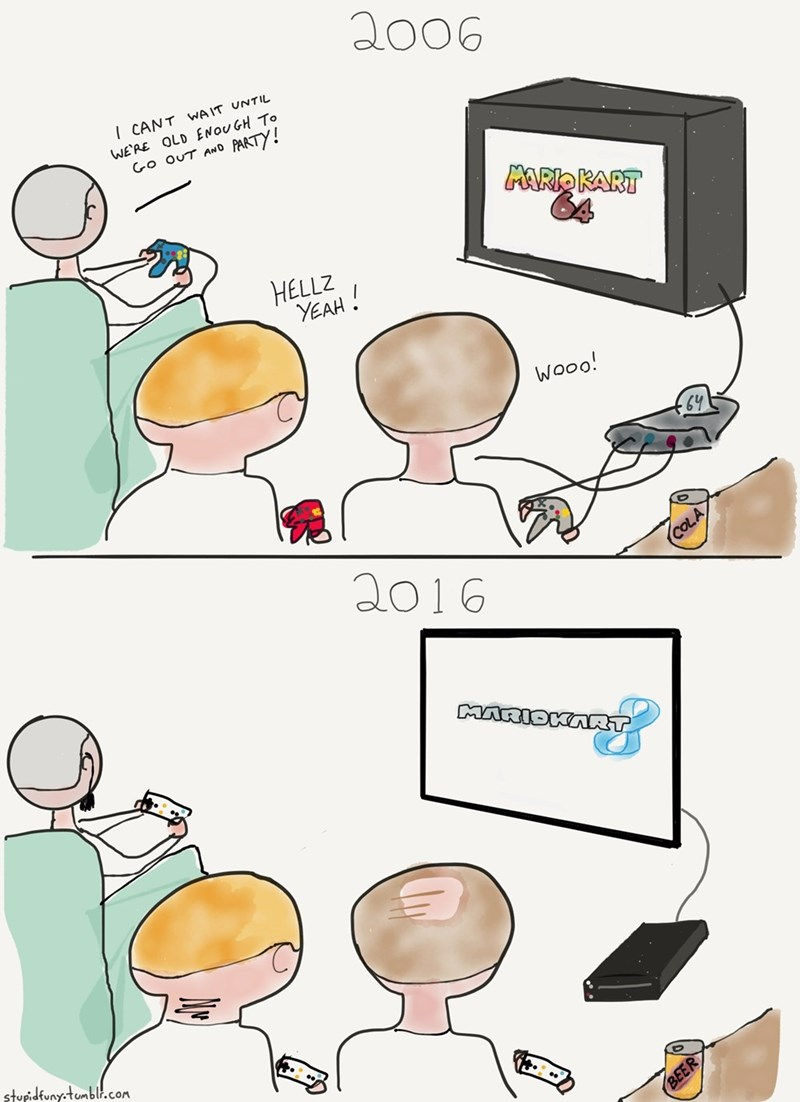 web-comics-accurate-video-game-moment-partying-truth
