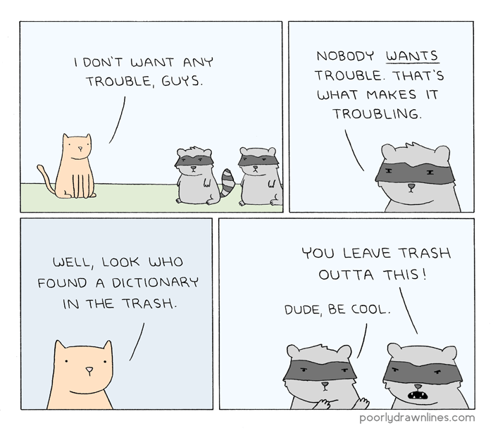 poorly-drawn-lines-racoons-animals-trash-robbery-web-comics