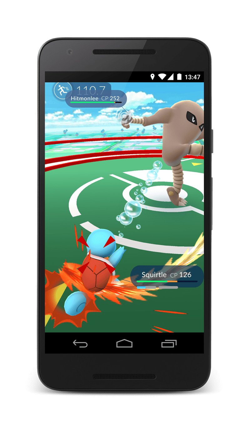 Gadget - 13:47 110.7 Hitmonlee CP 252 Squirtle CP 126