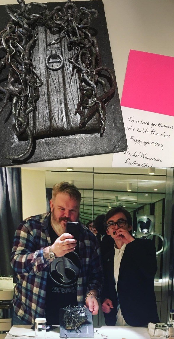 hodor shares door cake with bran and makes us all cry