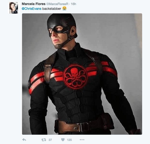 Superhero - Marcela Flores @MarceFloresR 16h @ChrisEvans backstabber t37 125