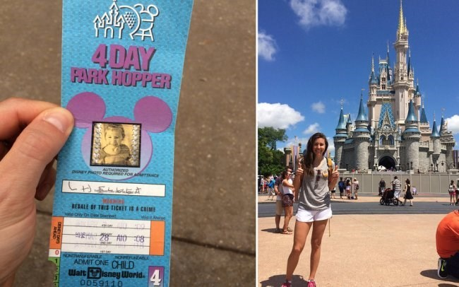 Girl Spends a Day at Disney World for FREE Because Dad Saved Her Pass from 1994