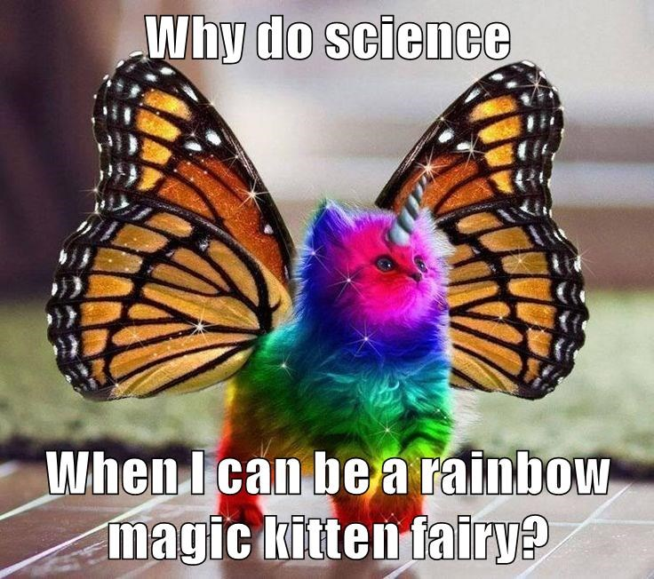 Why do science  When I can be a rainbow magic kitten fairy?