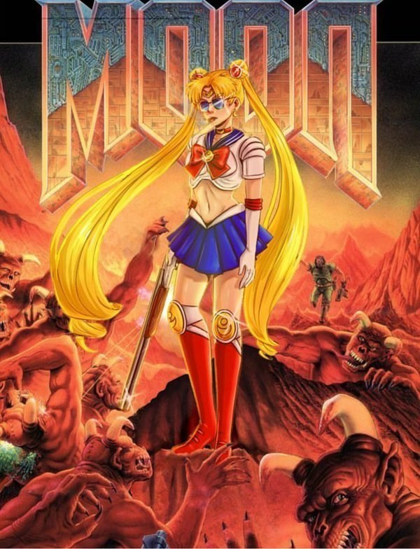 doom anime sailor moon video games funny - 8800392960