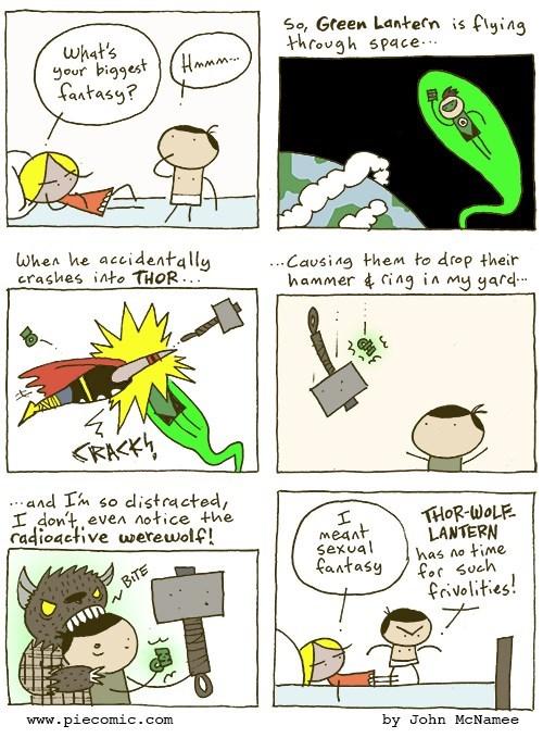 web-comics-werewolf-thor-green-lantern-crossover-fantasy