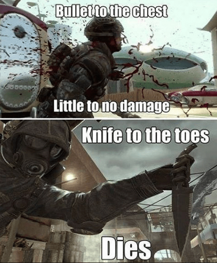 video-game-logic-bullet-to-chest-vs-knife-to-toes