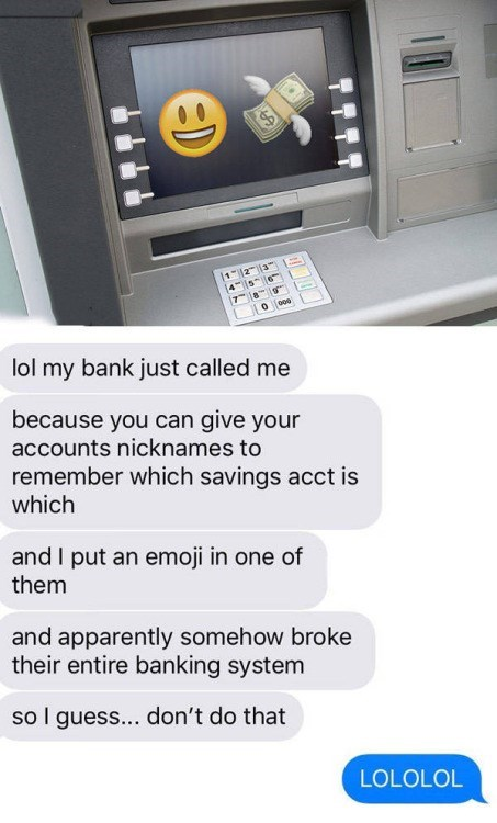 image text emoji Banks Aren't Ready for Millennials to Have Savings Accounts