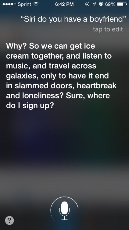 siri boyfriend sass Wow, Siri, What Happened?