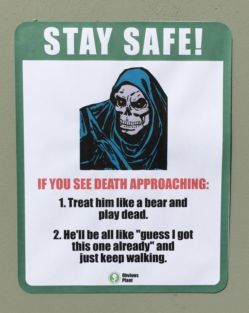 image signs prank The Secret to Immortality
