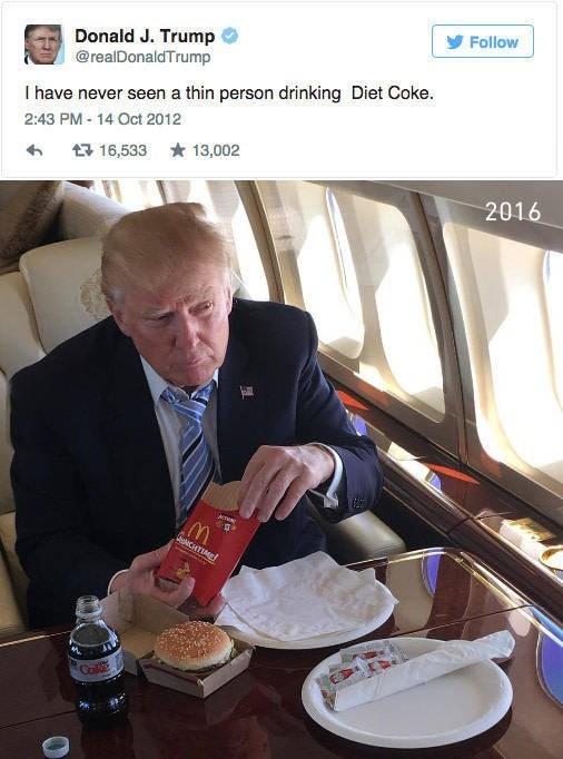 twitter,donald trump,McDonald's
