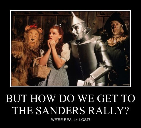 BUT HOW DO WE GET TO THE SANDERS RALLY?