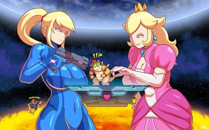 princess peach bowser funny - 8800980480