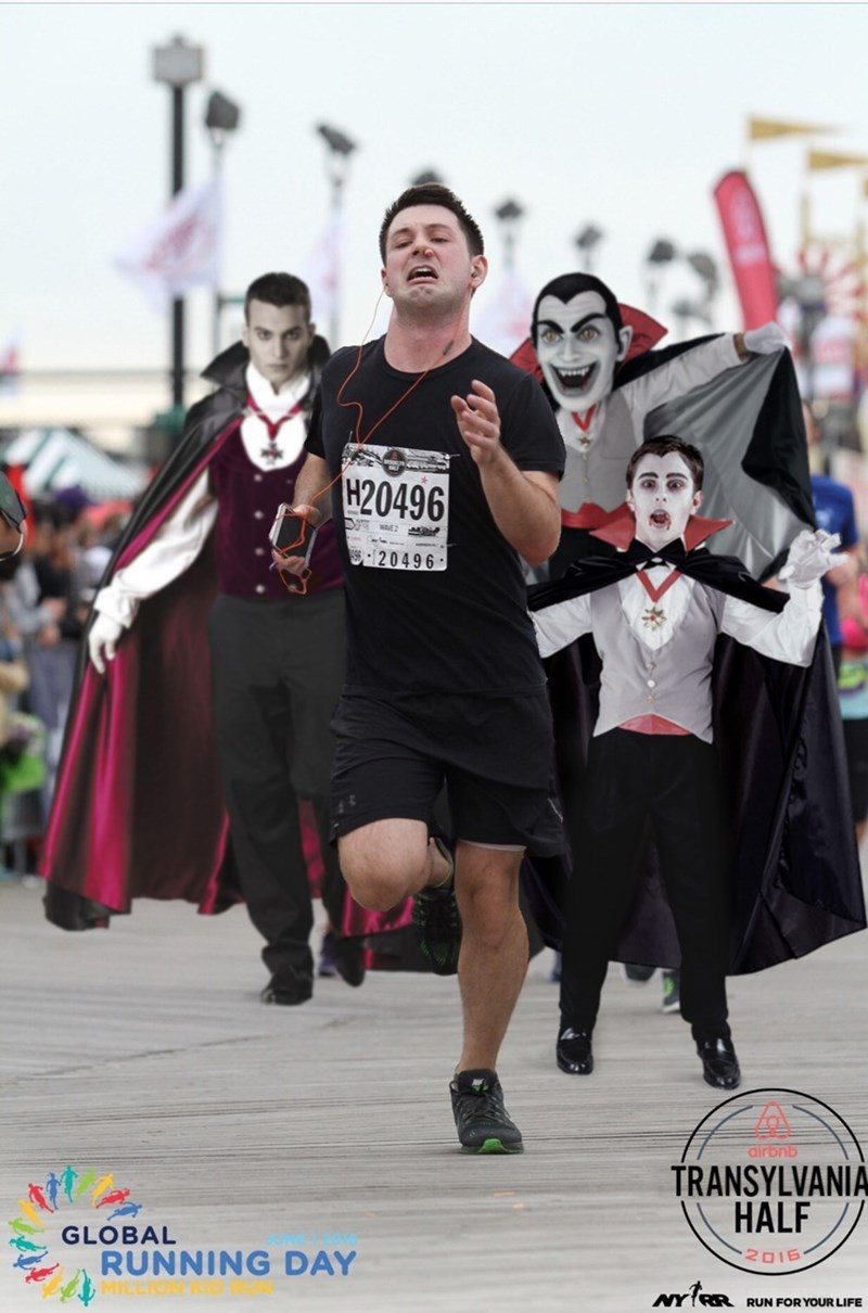Costume - H20496 AVE2 20496 airbnb TRANSYLVANIA HALF GLOBAL 2016 RUNNING DAY RUN FOR YOUR LIFE