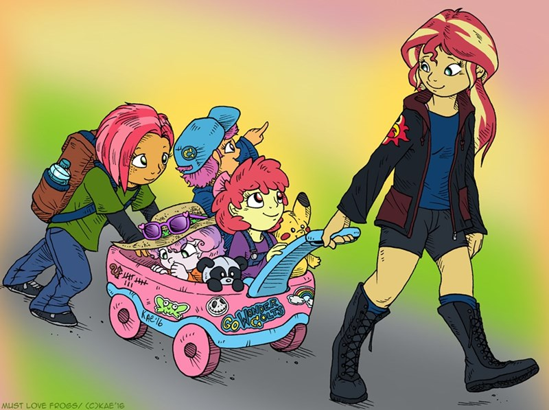 equestria girls,Sweetie Belle,apple bloom,babs seed,sunset shimmer,Scootaloo