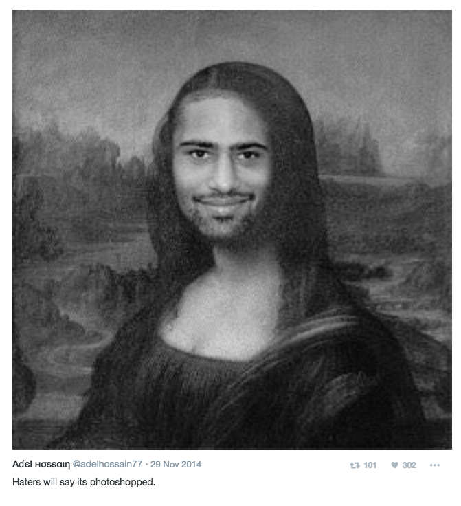 Hair - Adel Hossain@adelhossain77 29 Nov 2014 302 t3 101 Haters will say its photoshopped.