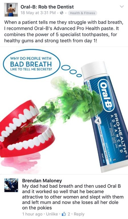 failbook facebook toothpaste - 8801643008