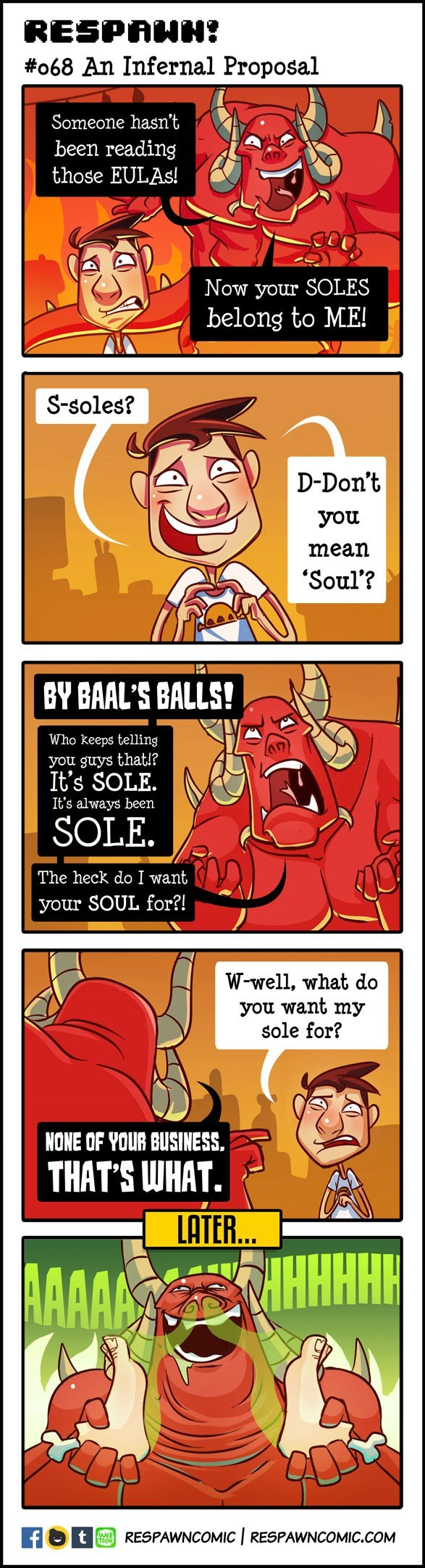 feet devil weird web comics
