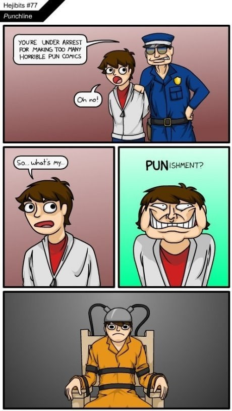 puns arrest funny web comics